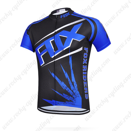 ... Racing Jersey Tops Maillot Black Blue. 2015 Team FOX Bicycle Jersey  Black Blue cd0fbcb8d