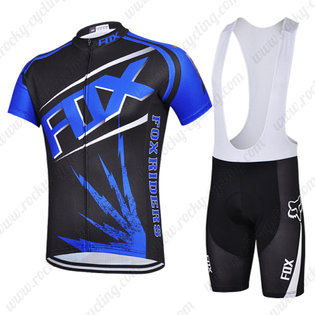 2015 Team FOX Pro Biking Uniform Cycle Jersey and Padded Bib Shorts ... fe04fadb6