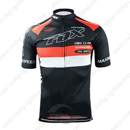 ... Riding Wear Bicycle Maillot Jersey Tops Shirt Black. 2015 Team FOX  Cycling Jersey Black Red 419bcf473