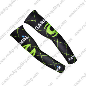 2015 Team GARMIN cannondale Cycling Arm Warmers Sleeves Black Green