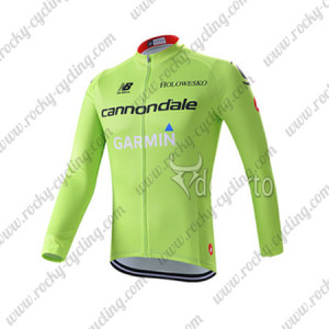 2015 Team GARMIN cannondale Cycling Long Jersey Green