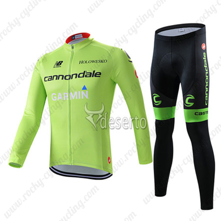Bicycle Clothing dans Cloths 2015-Team-GARMIN-cannondale-Cycling-Long-Kit-Green