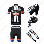 2015 Team GIANT Alpecin Cycling Kit+Gloves+Bandana+Arm Warmers Black
