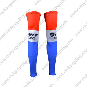 2015 Team GIANT SHIMANO Cycling Leg Warmers Sleeves Red Blue