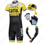 2015 Team LOTTO JUMBO Pro Cycling Set Yellow Black