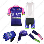 2015 Team Lampre MERIDA Cycling Bib Kit+Gloves+Bandana+Arm Warmers Purple