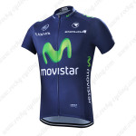 2015 Team Movistar Bicycle Jersey Dark Blue