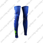 2015 Team Movistar Cycling Leg Warmers Sleeves Blue