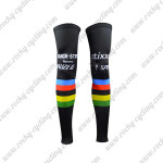 2015 Team QUICK STEP UCI Cycling Leg Warmers Sleeves Black Rainbow
