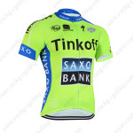 2015 Team SAXO BANK Cycling Jersey Green Blue