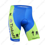 2015 Team SAXO BANK Cycling Shorts Green Blue