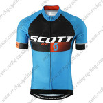 2015 Team SCOTT Cycling Jersey Blue Black