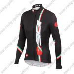 2015 Team SIDI Cycle Long Jersey Maillot Black
