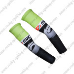 2015 Team SIDI Cycling Arm Warmers Sleeves Black Green