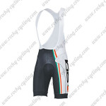 2015 Team SIDI Cycling Bib Shorts White Black