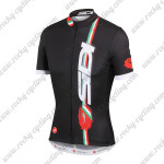 2015 Team SIDI Cycling Jersey Tops Maillot Black