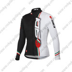 2015 Team SIDI Cycling Long Jersey White Black