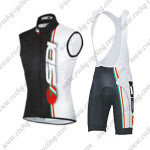 2015 Team SIDI Cycling Sleeveless Vest Bib Kit White Black