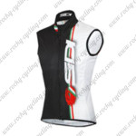 2015 Team SIDI Cycling Sleeveless Vest White Black