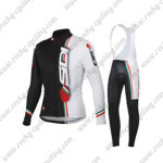2015 Team SIDI Riding Long Bib Kit Black White
