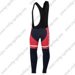 2015 Team Tinkoff SAXO BANK Bicycle Long Bib Pants Tights Red