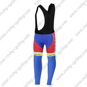 2015 Team Tinkoff SAXO BANK Bicycle Long Bib Pants Tights Red Blue