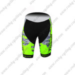 2015 Team Tinkoff SAXO BANK Biking Shorts Camo Fluorescent Green