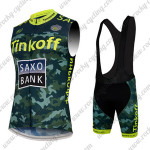 2015 Team Tinkoff SAXO BANK Biking Sleeveless Vest Bib Kit Camo Yellow