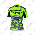 2015 Team Tinkoff SAXO BANK Cycle Jersey Camo Fluorescent Green