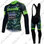 2015 Team Tinkoff SAXO BANK Cycle Long Bib Kit Camo Green