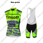 2015 Team Tinkoff SAXO BANK Cycling Bib Kit Fluo Green Black
