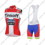 2015 Team Tinkoff SAXO BANK Cycling Bib Kit Red White