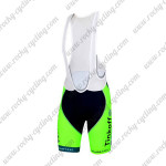 2015 Team Tinkoff SAXO BANK Cycling Bib Shorts Fluorescent Green
