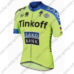 2015 Team Tinkoff SAXO BANK Cycling Jersey Green Blue