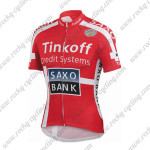 2015 Team Tinkoff SAXO BANK Cycling Jersey Red