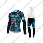 2015 Team Tinkoff SAXO BANK Cycling Long Bib Kit Camo Blue