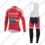 2015 Team Tinkoff SAXO BANK Cycling Long Bib Kit Red