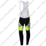 2015 Team Tinkoff SAXO BANK Cycling Long Bib Pants Fluorescent Yellow Black