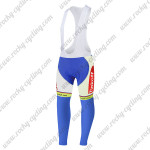 2015 Team Tinkoff SAXO BANK Cycling Long Bib Pants Tights Blue White Red