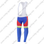 2015 Team Tinkoff SAXO BANK Cycling Long Bib Pants Tights Red Blue