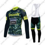 2015 Team Tinkoff SAXO BANK Cycling Long Bib Suit Camo Yellow