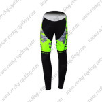 2015 Team Tinkoff SAXO BANK Cycling Long Pants Tights Fluo Green Black