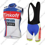 2015 Team Tinkoff SAXO BANK Cycling Sleeveless Vest Bib Kit