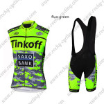 2015 Team Tinkoff SAXO BANK Riding Bib Kit Fluo Green Blac