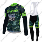 2015 Team Tinkoff SAXO BANK Riding Long Bib Kit Camo Green