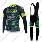 2015 Team Tinkoff SAXO BANK Riding Long Bib Kit Camo Yellow