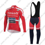 2015 Team Tinkoff SAXO BANK Riding Long Bib Kit Red
