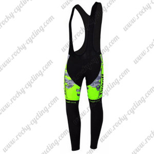 2015 Team Tinkoff SAXO BANK Riding Long Bib Pants Camo Fluorescent Green