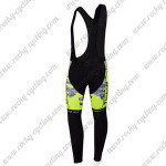 2015 Team Tinkoff SAXO BANK Riding Long Bib Pants Fluorescent Yellow Black