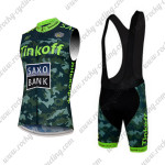 2015 Team Tinkoff SAXO BANK Riding Sleeveless Vest Bib Kit Camo Green